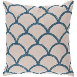 Surya Pillows COM-007 Ivory/Teal