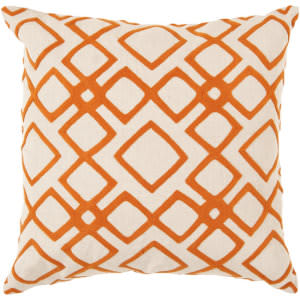 Surya Pillows COM-015 Burnt Orange/Ivory