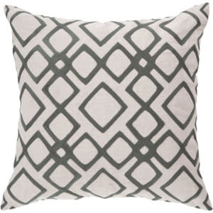 Surya Pillows COM-017 Charcoal/Ivory