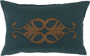 Surya Cairo Pillow Cr-008 Dark Green