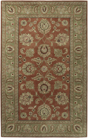 Custom Surya Crowne CRN-6019 Dark Rust Area Rug