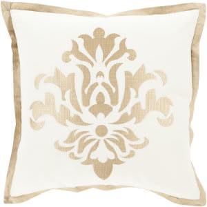 Surya Cosette Pillow Ct-002 Wheat