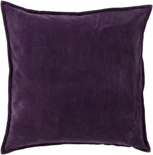 Surya Cotton Velvet Pillow Cv-006 Purple