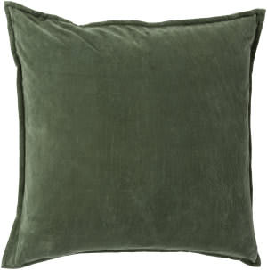 Surya Cotton Velvet Pillow Cv-008 Dark Green