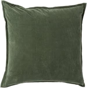 Surya Cotton Velvet Pillow Cv-008 Dark Green