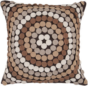 Surya Pillows CW-055 Mocha/Taupe