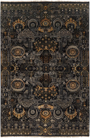 Surya Empress Ems-7000 Black Area Rug