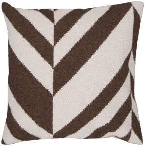 Surya Pillows FA-032 Chocolate/Ivory