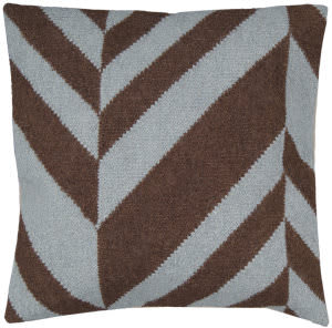 Surya Pillows FA-033 Chocolate/Gray