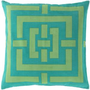 Surya Circles & Squares Pillow Fb-006 Emerald