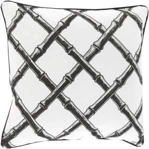 Surya Bamboo Lattice Pillow Fbb-003 Charcoal