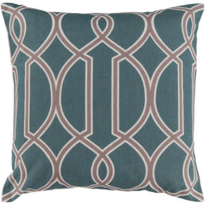 Surya Pillows FF-013 Teal/Taupe