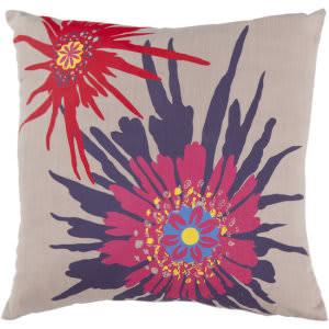 Surya Pillows FF-024 Taupe/Multi