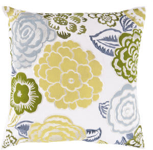 Surya Botanical Pillow Ff-027 Yellow/Green