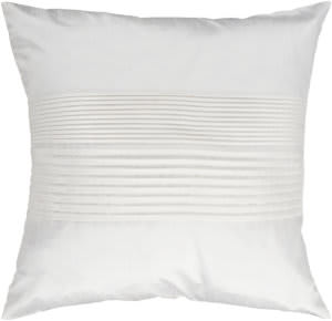 Surya Solid Pleated Pillow Hh-017 White