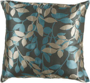 Surya Pillows HH-059 Charcoal/Teal