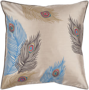 Surya Pillows HH-097 Beige/Sky Blue