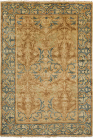 Surya Hillcrest HIL-9019 Moss / Orange / Yellow Area Rug