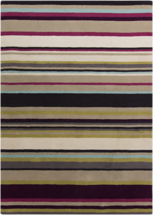 Surya Harlequin HQL-8025 Taupe / Violet (purple) / Blue / Green Area Rug