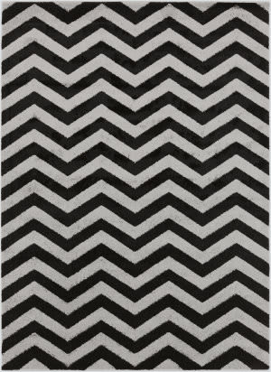 Surya Horizon Hrz-1026 Black Area Rug