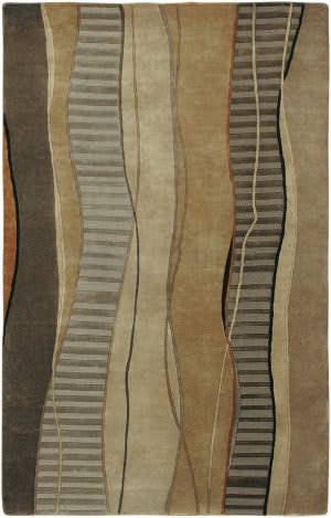 Surya Mugal IN-8020 Cocoa Black Area Rug
