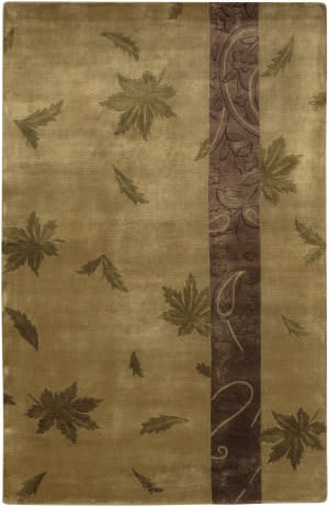 Surya Mugal IN-8060 Tan Olive Plum Area Rug