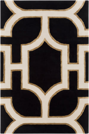 Surya Intermezzo Ine-1000 Black Area Rug