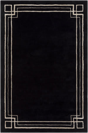 Surya Intermezzo Ine-1006 Black Area Rug