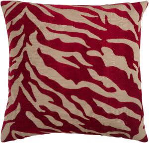 Surya Velvet Zebra Pillow Js-026
