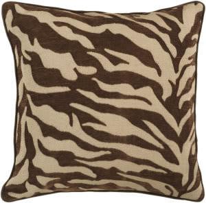 Surya Velvet Zebra Pillow Js-033