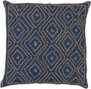 Surya Atlas Pillow Ld-025 Blue/Camel