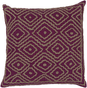 Surya Atlas Pillow Ld-032 Purple/Camel