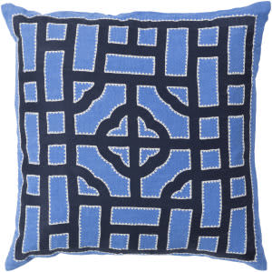 Surya Chinese Gate Pillow Ld-044 Blue