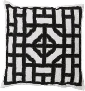 Surya Chinese Gate Pillow Ld-046 Black
