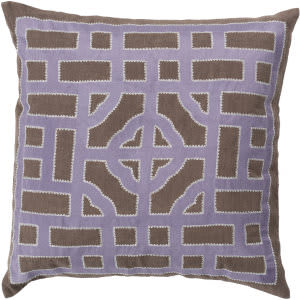 Surya Chinese Gate Pillow Ld-048 Camel/Mauve