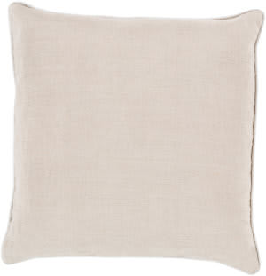 Surya Linen Piped Pillow Lp-008 Gray/Ivory
