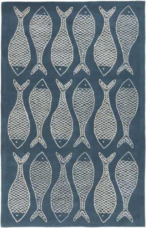 Surya Lighthouse LTH-7028 Teal Blue Area Rug
