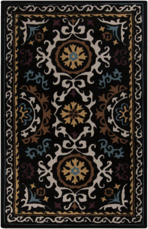 Surya Mamba MBA-9025 Coal Black Area Rug