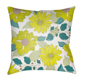 Surya Moody Floral Pillow Mf-032