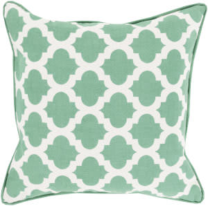 Surya Moroccan Printed Lattice Pillow Mpl-009