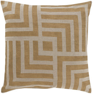 Surya Metallic Stamped Pillow Ms-006