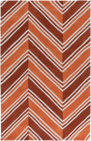 Surya Opera Opr-6003 Burnt Orange Area Rug