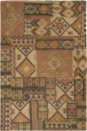 Surya Patch Work PAT-1003 Terra Cotta Area Rug