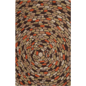 Surya Pebble Beach PB-1000 Dark Chocolate Area Rug