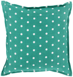 Surya Polka Dot Pillow Pd-006 Emerald