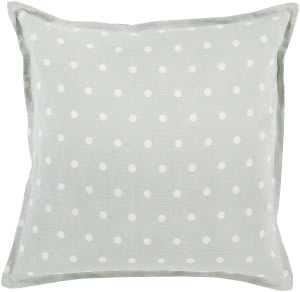 Surya Polka Dot Pillow Pd-007 Slate