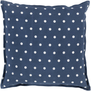 Surya Polka Dot Pillow Pd-009 Navy