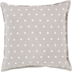 Surya Polka Dot Pillow Pd-010 Light Gray