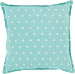 Surya Polka Dot Pillow Pd-011 Teal