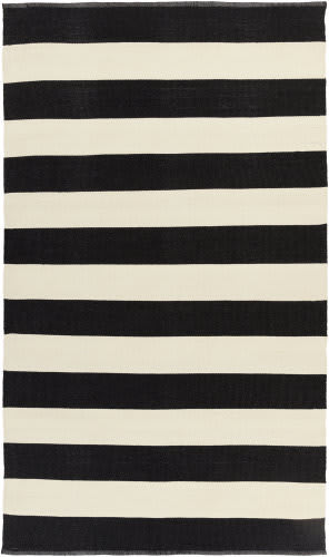 Surya Picnic Pic-4005 Black and Ivory Area Rug